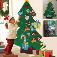 ingrosso appendere ornamenti muri-Fai-da-te Albero di Natale con pedanti Ornamenti Regali di Natale Porta di Capodanno Appeso a muro Decorazione di natale Accessori per bambini WX9-1042