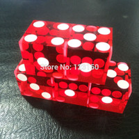 Wholesale transparent dice wholesale - Wholesale-5pcs lot, 19mm Acrylic Precision Dice Transparent Dice Six Sided Casino Spqure Craps Dice high-grade