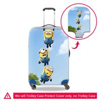 Wholesale Minion Covers - Cartoon Minions Printing Luggage Protective Covers For 18-30 Inch Case On Suitcase Women Waterproof Anti-Dust Thick Elastic Cover Wholesale