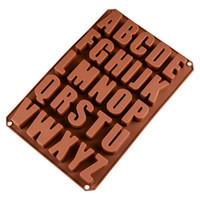 ingrosso muffa al cioccolato alfabeto-Vendita stampi per torta in silicone 26 fori Stampo per alfabeto inglese al cioccolato Stampi per dolci da forno in casa Stampi da cucina