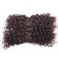 rabatt menschenhaar weben großhandel-Die neue Rabatt Brasilianische Hellbraune Farbe Tiefe Welle Haarverlängerung 100% Brasilianische Menschliche Haarwebart 6a Unverarbeitete Remy Haar Weben