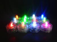 nachtlichtfarben großhandel-LED-Kerze-Licht-wasserdichte Hochzeitsfest-Lichter Hauptdekoration 7 Farben Flammenlose LED-Kerzen-Lampen-Nachtlichter mit Schwenker c568