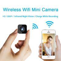 ingrosso telecamera dvr a infrarossi-Mini IP Wifi Telecamera a infrarossi Visione notturna HD 1080P Micro Videocamera Sport per auto DV Registrazione del video Registrazione vocale durante la registrazione