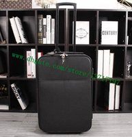 Wholesale real roll - Top Grade Men Real Calf Leather Travel Suitcase Designer Rolling Luggage Black Taiga PEEGASE LEEGERE M30005 Free Shipping