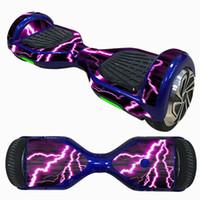 zwei räder skaten großhandel-Neue 6,5 Zoll Selbstausgleich Roller Haut Schwebeflug Elektro Skate Board Aufkleber Zwei-Rad Intelligente Schutzhülle Aufkleber