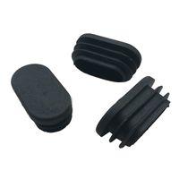 ingrosso tubo ovale-HOT GCZW-Sedia da tavolo ovale da gamba tubo tubo inserto tappo di estremità 40mm x 20mm nero 20pcs