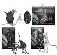 Wholesale Alien Predator Figures - Movie AVP Aliens vs Predator Figure Series Alien Covenant Xenomorph Neomorph Creature Pack PVC Action Figures Model Toy Gift
