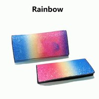 Wholesale ladies clutch wallets for phones - New France luxury designer brand women wallets For Women Rainbow Colorful Fashion Luxury Handbags Purses Ladies Long Clutch Holders