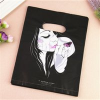 Wholesale bamboo plastic bag - 2017 New Design Wholesale 100pcs lot 20*25cm Luxury Fashion Girl Plastic Gift Packaging Bags For Hair Extensions