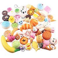 Wholesale rilakkuma squishies - 30 Different Styles Kawaii Squishy Rilakkuma Donut Soft Squishies Cute Phone Straps Slow Rising Squishies Jumbo Buns Bag Phone Charms