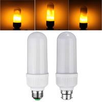 Wholesale Light Effect Flash - flaming LED light bulb energy efficient light bulbs flame effect bulb lamp 60W 1800K simulation true fire flash flameless lights bulbs