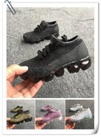 Wholesale Boys Skating Shoes - 2018 Vapormax Children Shoes Skate Boys and Girls Casual Shoes 6 Colors Kids Shoes Kid Sneakers Eur 28-35
