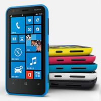 Wholesale unlock windows mobile - Refurbished Original Nokia Lumia 620 Windows Phone 3.8 inch Dual Core 8GB ROM 5MP Camera WIFI GPS 3G Unlocked Mobile Phone Free DHL 1pcs