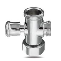 биде клапан оптовых-3 Way Shower Diverter Valve 3/4'' 1/2'' BSP T-adapter Valve Connector for Bathroom Toilet Bidet Shower Head Bathroom Accessories