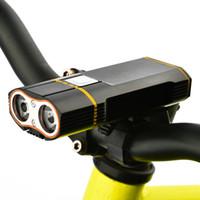guidão usb venda por atacado-Farol de bicicleta de luz frontal XM-L2 LED luz de ciclismo embutida 18650 bateria recarregável + guiador montar + linha USB