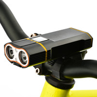usb del manillar al por mayor-Luz delantera de la bici Faro XM-L2 LED Luz de ciclo incorporada 18650 Batería recargable + Soporte de manillar + línea USB