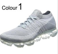 Wholesale pink floral cotton fabric - Vapormaxsy 2018 Plus Runnings Shoes Classic Outdoor Runs Shoes Vapor tn Black White Sport Shock Sneakers Men requin Olive Silver In Metallic