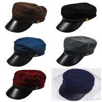 vintage universal venda por atacado-Universal Chapéus Boné PU Bongrace Sombrinha Chapéus Para Homens E Mulheres Boné Ocasional Do Vintage Nova Chegada 9 5bd B