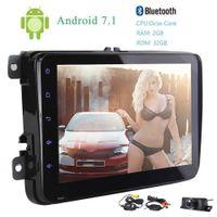 rückfahrkamera für vw großhandel-Eincar Wireless Rückfahrkamera Octa Core Double 2Din 8 '' Android 7.1 Autoradio In Dash Autoradio für VW GPS Navigation