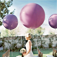 Wholesale 36 Inch Latex Balloons Wholesale - 36 Inches Latex Balloons Lagar Round Inflatable Air Balloon Colorful Thicken Eco Friendly Airballoon For Wedding Decorations 1 8pd B