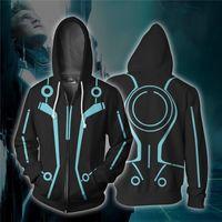 movie Tron Legacy 3d Cosplay Costumes Zipper Hoodies Sweatshirts 3D Printing Unisex Adult man women Clothing