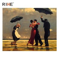 Wholesale modern dance oil painting - RIHE Dancing Couple Oil Painting By Numbers Cuadros Decoracion Acrylic Paint On Canvas For Artwork Modern Coloring By Numbers