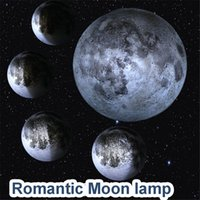 Wholesale moon room wall light - healing moon in the room led moon lamp novelty wall lamp in bed room moon light romantic night light