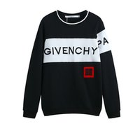 c49a996717d 18ss Design Luxury 18fw Europe giv paris sweat 4g brodé France Mode sweat  felpa noir grande bande blanche hommes femmes