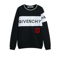 großer hoodie großhandel-18ss Design Luxus 18fw Europa giv paris 4g bestickte Sweatshirt Frankreich Fashion Black Felpa Sweatshirt große weiße Band Männer Frauen Hoodies