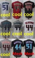 Wholesale Black Paul Goldschmidt Jersey - Cheap Mens #51 jersey Randy Johnson #44 Paul Goldschmidt 100% stitched cool base free shipping