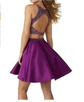 двух частей выпускного платья 8-го класса оптовых-Homecoming платья две 2 шт. 8 класс короткие Пром платье младший высокая симпатичные выпускной полу вечернее платье коктейль