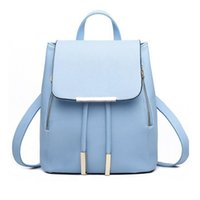 Wholesale Campus Bag Backpack - Fashion Women Backpack Casual Leather School Backpack for Teenage Girl Schoolbag Travel Bag Campus Women Bag School Shoulder Bag