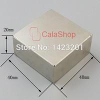Wholesale n52 block magnets resale online - One x40x20 Magnets Block Neodymium N52 Disc Rare Earth Super Strong Fridge Magnet