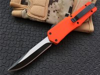 Wholesale wholesale camping tool for sale - Microtech Orange Small A07 Double action automatic knife Steel blade Outdoor EDC Tools mini Survival Pocket Camping knives P56Q F