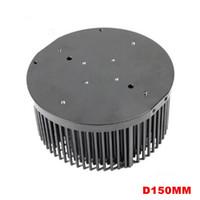 ailettes de radiateur achat en gros de-Dissipateur de chaleur à ailettes pré-percé D150mm pour dissipateur thermique CLU048 et Cree Cob cxb3590