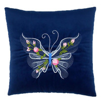 Wholesale Office Filling - 35*35cm Square Plush Filling Butterfly Printed Throw Pillow Seat Bed Cushion Home Decor Office Rest Throw Pillow Almofadas
