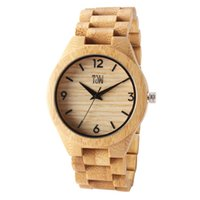 Wholesale led watches online - 2018 hot watch TJW latest wooden wristband watch Original ecological mosaic wooden texture dial leads the light luxury casual style