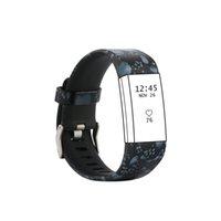sangles c achat en gros de-(Charge2HS) C-G013 Bande de sangle de sport ajustable en silicone souple pour Fitbit Charge 2