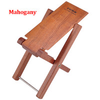 Wholesale Guitar Foot Rest Stool Pedal Level Adjustable Height Mahogany Wood Material Pedal For Classical Guitar