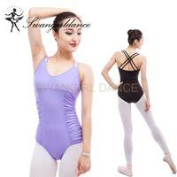 Wholesale latest women costume for sale - ML6039 matt lycra latest double strap dance leotards adult for ballet costumes leotards dancewear women ML6039