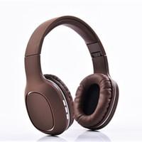 écouteur de porcelaine achat en gros de-Hot China Freeshipping Bluetooth Casque Stéréo Basse Pliable Casque Sans Fil Écouteurs Support Carte SD avec Micro