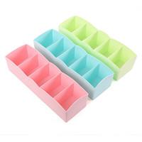 Wholesale Bra Chinese - Drawer Clothing Storage Box Underwear Socks Bra Ties Organizer Plastic Storages Boxs Multi Color 1 2gy C R
