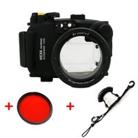 Wholesale Quick Release Lanyard - Underwater Waterproof Housing Diving Camera Case Bag for SONY Nex-6 Nex 6 16-50mm lens+Red filter and Quick Release Coil Lanyard