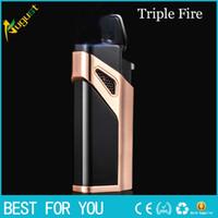 Wholesale triple lighter resale online - Hot Sale Jobon Creative Compact Triple Fire Jet Gas Lighter Torch Lighter Windproof Metal Lighter Blue fire C Cigarette Accessories