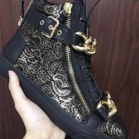 Nuovo design catena d oro con fibbia cinturino scarpe da donna e da uomo  nero sneakers alti stivali invernali caldi all aperto ac85ddf6aef