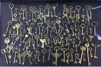 Wholesale bronze bracelet accessories for sale - Pieces zakka Vintage Charms key Pendant Antique Bronze Silver Fit Bracelets Necklace Diy Metal Jewelry Making Accessories