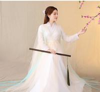 trajes tradicionales chinos de las mujeres al por mayor-Traje antiguo chino vestido traje de cosplay Vestido tradicional chino Falda Dinastía Tang antigua Hanfu Hanfu vestidos para mujeres