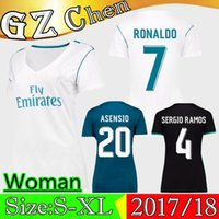 Real Madrid Jersey 1718 RONALDO ASENSIO Maglia donna 1718 ISCO KROOS MODRIC BALE BENEMA MARCELO Maglia T-Shirt 1718 Best Quality + All Patch
