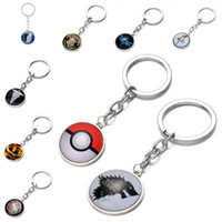 Wholesale zelda glass - Glass Cabochon Keychain The Legend of Zelda Attack on Titan Game of Thrones Lord of the Ring Supernatural Keychains Key ring Drop Shipping