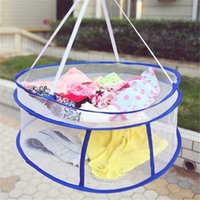 clothing rack double NZ - Drying Rack Clothes Basket Breathable Windproof Double Layer Underwear Folding Cloth Hanger Racks Laundry Basket Sweater Rack Drying Holder